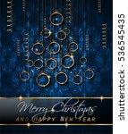 merry christmas background for... | Shutterstock . vector #536545435