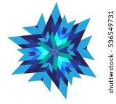 abstract geometric snowflake... | Shutterstock .eps vector #536549731