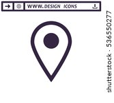 location icon vector flat...