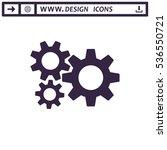 gear icon vector flat design... | Shutterstock .eps vector #536550721
