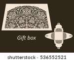 openwork gift paper box with a... | Shutterstock .eps vector #536552521