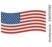 coloured usa flag. vector... | Shutterstock .eps vector #536555485
