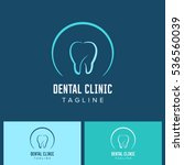 dental care tooth logo blue... | Shutterstock .eps vector #536560039