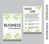 vector brochure flyer design... | Shutterstock .eps vector #536561641