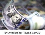 several modern hundred us... | Shutterstock . vector #536563939