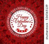 happy valentines day. vector...   Shutterstock .eps vector #536565139