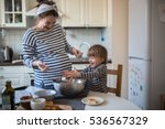 smiling young pregnant mother... | Shutterstock . vector #536567329