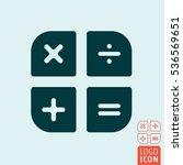 calculator icon isolated. basic ...