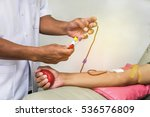 physician during transfusion... | Shutterstock . vector #536576809