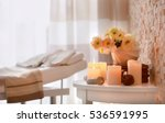 candles and flowers for