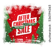 after christmas sale banner | Shutterstock .eps vector #536594365
