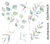 Watercolor Leaves Collection....