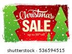 christmas sale banner | Shutterstock .eps vector #536594515
