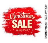 christmas sale banner | Shutterstock .eps vector #536594539