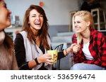friends having fun in a cafe. | Shutterstock . vector #536596474