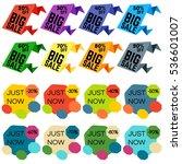 set of sale discount labels ... | Shutterstock . vector #536601007