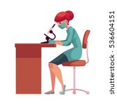 lab  laboratory assistant ... | Shutterstock .eps vector #536604151