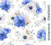 elegant watercolor seamless... | Shutterstock . vector #536606641
