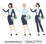 three business woman with... | Shutterstock .eps vector #536612794