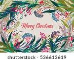 christmas vector card... | Shutterstock .eps vector #536613619