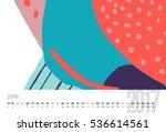 vector calendar for 2017. month ...   Shutterstock .eps vector #536614561