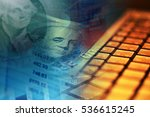 one hundred dollar bill.... | Shutterstock . vector #536615245
