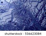 blue circuit board technology... | Shutterstock . vector #536623084