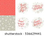 merry christmas  happy holidays ... | Shutterstock .eps vector #536629441