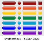 set of colored glossy buttons.... | Shutterstock .eps vector #536642821