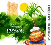 Illustration Of Happy Pongal...