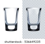 shot glass. transparent ... | Shutterstock . vector #536649235
