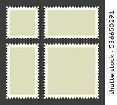 Blank Postage Stamps Set On...