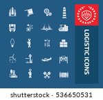 logistic and cargo icon set ... | Shutterstock .eps vector #536650531
