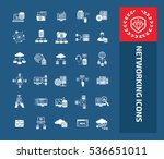 database   networking icon set ... | Shutterstock .eps vector #536651011