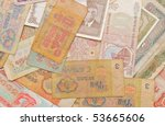 background from banknotes of...   Shutterstock . vector #53665606