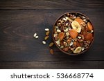 healthy snacks in bowl on... | Shutterstock . vector #536668774
