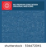 big icon set clean vector | Shutterstock .eps vector #536672041