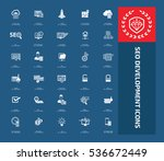 seo development icon set clean ... | Shutterstock .eps vector #536672449