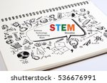 doodle of stem education... | Shutterstock . vector #536676991