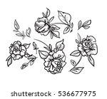 vector sketch flowers | Shutterstock .eps vector #536677975
