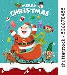 vintage christmas poster design ... | Shutterstock .eps vector #536678455