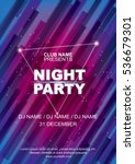 night party poster template ... | Shutterstock .eps vector #536679301