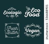vector set of eco badges with... | Shutterstock .eps vector #536688901