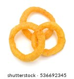 onion rings isolated on white... | Shutterstock . vector #536692345