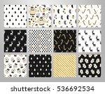 christmas set of vector hand... | Shutterstock .eps vector #536692534