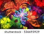 Abstract Exotic Flower. Fantas...
