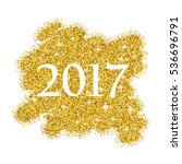 gold glitter background for new ... | Shutterstock . vector #536696791