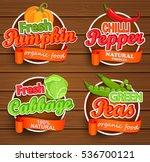 farm fresh  organic food label  ... | Shutterstock .eps vector #536700121