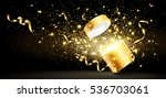 christmas background with open... | Shutterstock .eps vector #536703061
