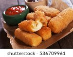 Breaded mozzarella cheese...